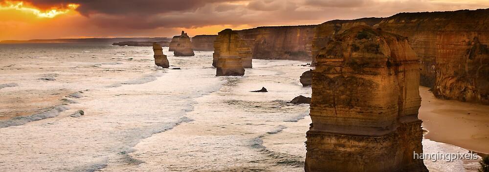 Backlit 12 Apostles golden sunset by hangingpixels