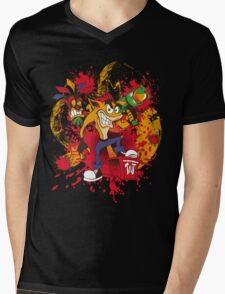 Bad-A Bandicoot Mens V-Neck T-Shirt