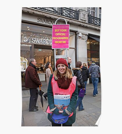London to Brighton Veteran Car Run Official programme seller in Regent street london Poster