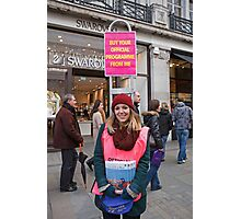 London to Brighton Veteran Car Run Official programme seller in Regent street london Photographic Print