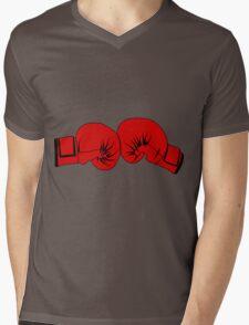 Boxing Gloves Mens V-Neck T-Shirt