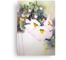 Holly Hocks series 4 Canvas Print