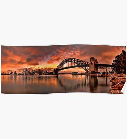 Kirribilli Sunrise - Panorama Poster