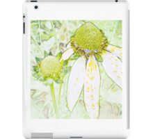 Marking the unique flower patch iPad Case/Skin