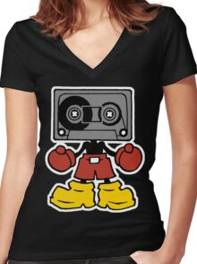 Mix-Tape Women's Fitted V-Neck T-Shirt
