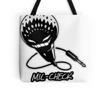 Mic-Check Tote Bag