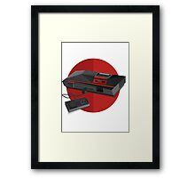 Game console Japan Framed Print
