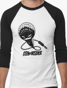 Mic-Check Men's Baseball ¾ T-Shirt