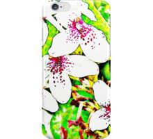 Painting flowers white beauty iPhone Case/Skin