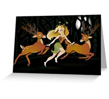 Twisted Tales - Adina and the deer Greeting Card