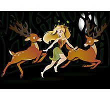 Twisted Tales - Adina and the deer Photographic Print