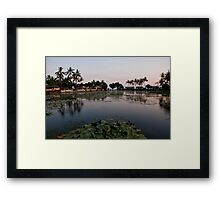 Sunset at the Sacred Lake in Candidasa Framed Print
