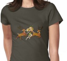 Twisted Tales - Adina and the deer Womens Fitted T-Shirt