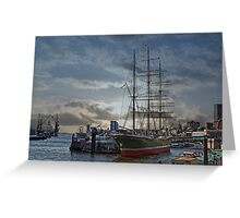 Hamburg Harbour Greeting Card