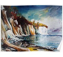 Chalk Cliffs On The Island Ruegen In Fall Poster
