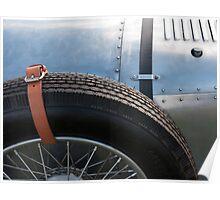 Vintage Car Spare Wheel Poster