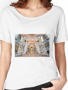 Inside the abbey library of Admont Women's Relaxed Fit T-Shirt