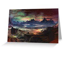 Firewalk Canyon Greeting Card