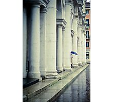 Blue umbrella Photographic Print