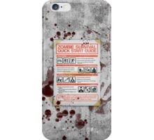 Zombie Survival - Quick Start Guide iPhone Case/Skin