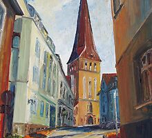 Siesta In Rostock's Eastern Historic District by Barbara Pommerenke