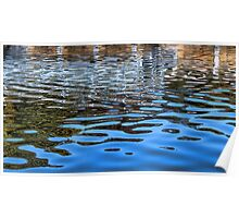 Reflections Of Fall And A Fishing Platform Poster