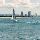 Sailing on the  Gold Coast Broadwater by Gregory Hale