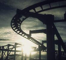 Roller Coaster Silhouette  by ChrisGothorp