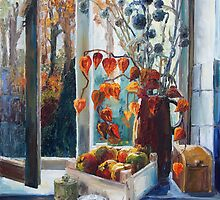 Autumn At The Kitchen Window by Barbara Pommerenke