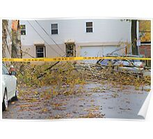 Damage from Hurricane Sandy Poster