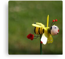 Don't worry, BEE happy Canvas Print