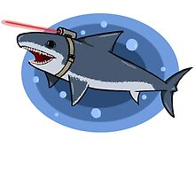 Shark with Laser by blue9ba