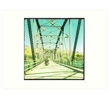 Crossing the Bethanga Bridge Art Print