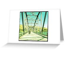 Crossing the Bethanga Bridge Greeting Card