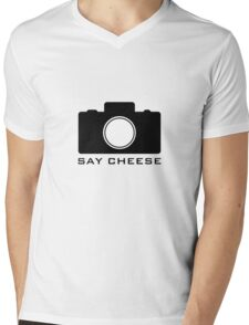 Say Cheese Mens V-Neck T-Shirt