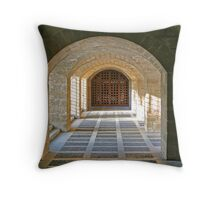 Who's Behind the Door Throw Pillow