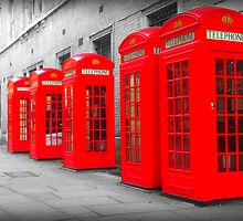 Telephone Boxes by Michael  Sawyer