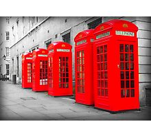 Telephone Boxes Photographic Print