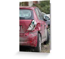 Car Crash Greeting Card