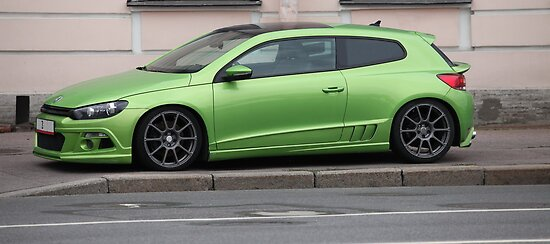 green sports car by mrivserg