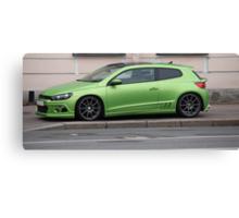 green sports car Canvas Print
