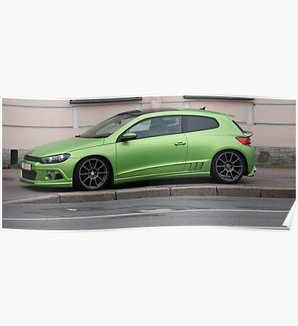 green sports car Poster