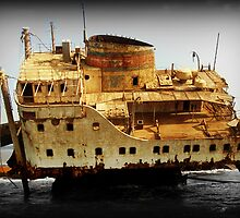Rust and Decayed Ship by Michael  Sawyer