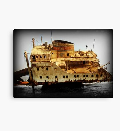Rust and Decayed Ship Canvas Print