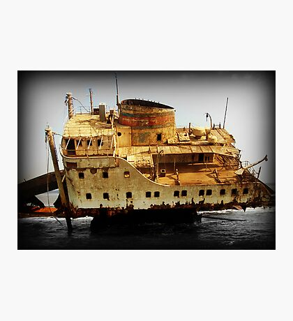 Rust and Decayed Ship Photographic Print