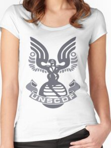 Halo UNSC Shirt (Shirt & Stickers) Women's Fitted Scoop T-Shirt