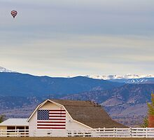 Hot Air Balloon Boulder Flag Barn and Eldora by Bo Insogna
