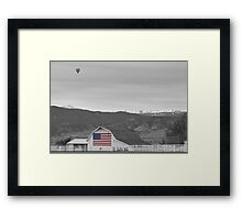 Hot Air Balloon Boulder Flag Barn and Eldora BWSC Framed Print