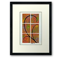 COLORFUL BROWN AND GRACEFUL BLACK     Framed Print