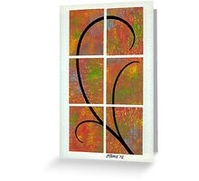 COLORFUL BROWN AND GRACEFUL BLACK     Greeting Card